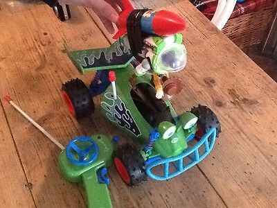 Large Disney Pixar's Toy Story Remote Control RC Car Woody and Buzz On Rocket