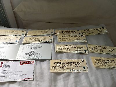 Ticket Stubs From The Musicals And Operas