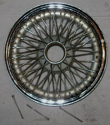 Jaguar XKE Chrome Wire Wheel RSM68B Used Orig 5K X 15 Mark Two E Type