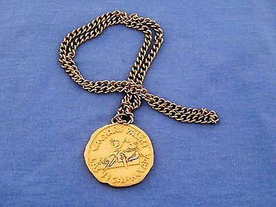 Vintage Caesars Palace Las Vegas - Nevada * Medallion & Chain Excellent Conditio
