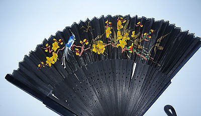 2 Vintage Japanese Hand Fan. 1960's Japan Airlines Collectable worldwide sending