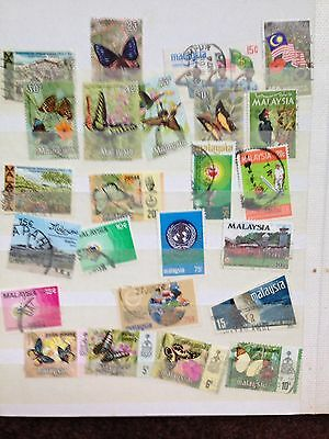 Large Collection~Over 90~ Malaysian Postage Stamps