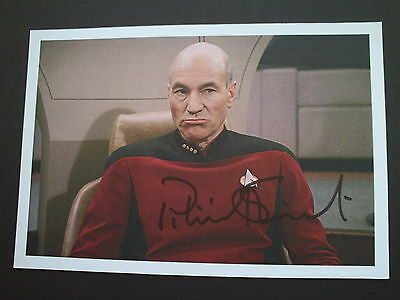 Patrick Stewart Star Trek Genuine Signed 8X5 Photograph
