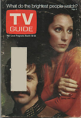 1972 TV GUIDE Sonny & Cher March 18-24