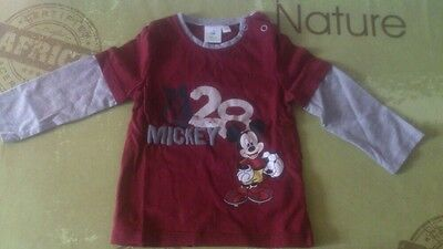 T-shirt Mickey à manches longues taille 9 mois