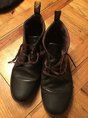 Dr Martens brown leather ankle boots UK 10 will chukka desert please read
