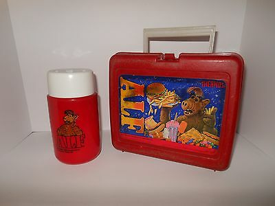 Vintage Alf Lunchbox with Thermos 1987 1988 Alien Productions  RED