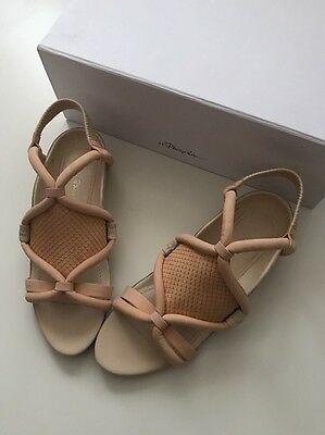 3.1 Phillip Lim Marquise Peach Oyster Leather Sandals SZ 36 NWB