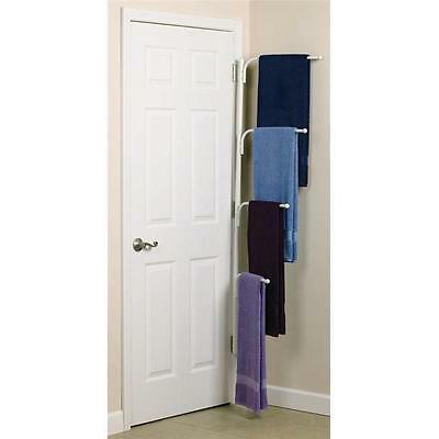 Hinge-It Organize Clutter Buster White Clothing and Linen Rack