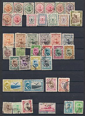 Persia 1911-1949 Range Fine Used and Mounted Mint