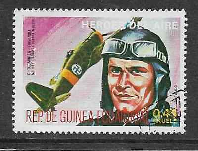Equatorial Guinea - Used Stamp - 1977 Heroes Of The Air - D. Tuominien