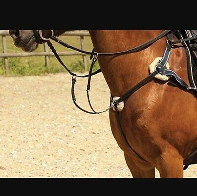Brand new; Brown Ascot 5 Point Breastplate!