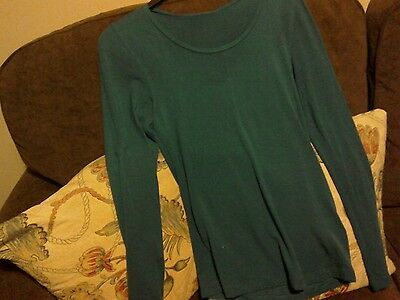 marks and spencer green thermal top size 12