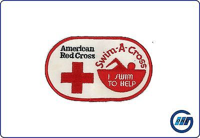 "USA: Aufnäher American Red Cross ""Swim-A-Cross"" I swim to help"