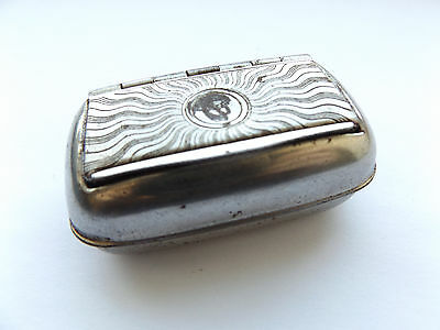 Lovely Antique Vintage Silver Plated Snuff Box.