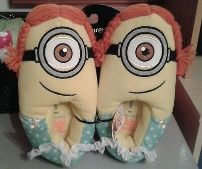 George ladies minion/Despicable Me character slippers size 5/6 BNWT
