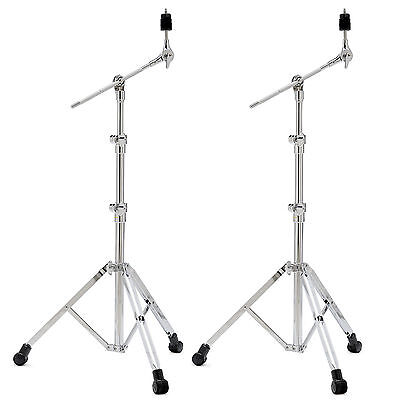 2 NEW SONOR Heavy Duty MBS 4000 BOOM CYMBAL STANDS w/ Quick Release Cymbal Clamp