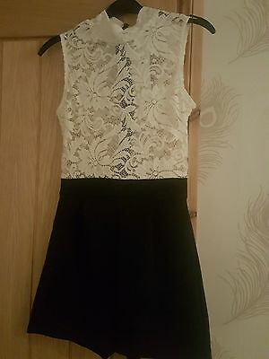 White lace jumpsuit size 14 brand new