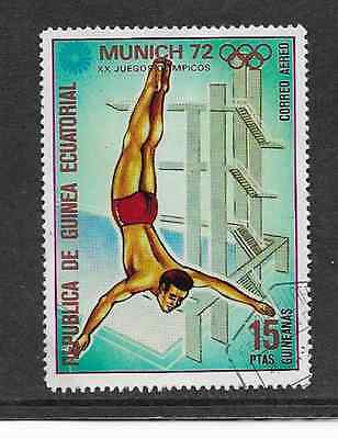 Equatorial Guinea - Used Stamp - 1972 Air Mail Olympic Games - Diving Munich 72