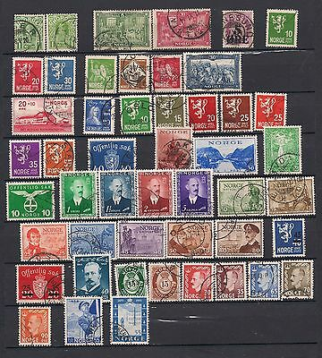Norway 1910-54 Range Good-Fine Used