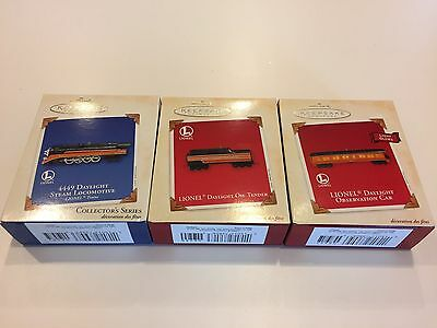 2003 Hallmark Lionel 4449 Daylight Steam Locomotive Oil Tender & Observation Car