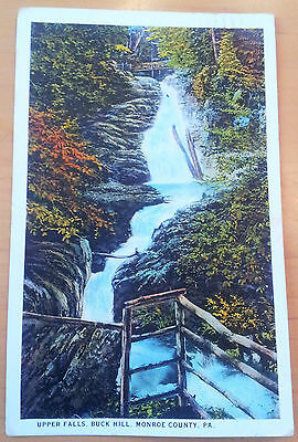 Postcard USA 1926 Upper Falls, Buck Hill, Monroe County, PA, coloured, nice view