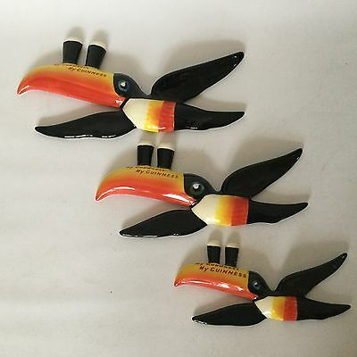 Guinness Carltonware Advertising Collectable Flying Toucans Set Of 3 VGC