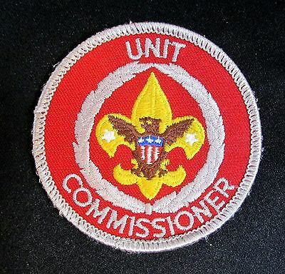 BSA Boy Scouts Unit Commissioner Position Round Patch Red White 3in