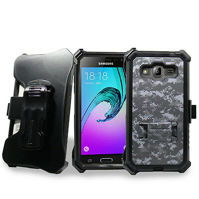 Shockproof Holster Clip Belt Case Cover Protector For Samsung Galaxy Sky / J3