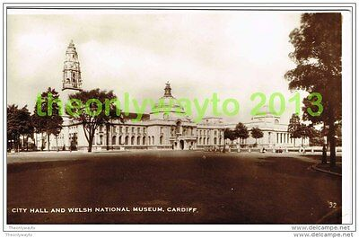 CITY HALL AND WELSH NATIONAL MUSEUM, CARDIFF, WALES, 1937, Postcard