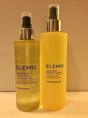 Elemis Omega Rich Cleansing Oil 195ml And Apricot Toner 200ml New