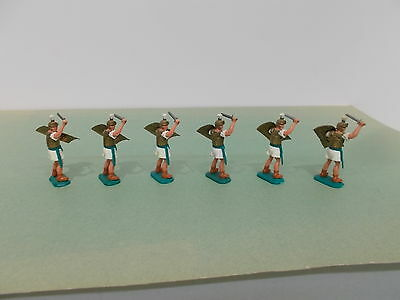 Timpo Toy Soldiers- 6 X ROMANS on FOOT SERIES No.18 in MINT condition