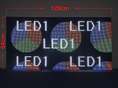 Full Colour LED Video Display - Pixel Pitch 10mm - Indoor – 64x128x9cm