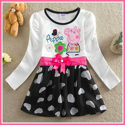 Girl Peppa Pig Christmas Birthday School Party Outfit Girls Dresses AGE 3Y-4Y