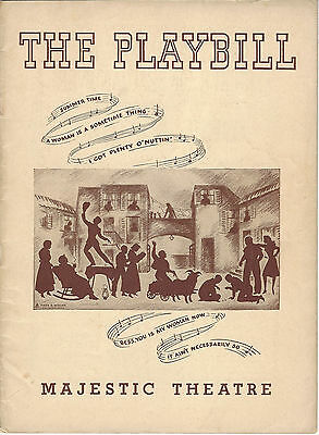 1942 Playbill Porgy And Bess Todd Duncan Etta Moten at the Majestic Theatre