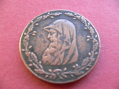 The Anglesey Mines Halfpenny Brass Copper Token Mining Miners Pit Lamp Check