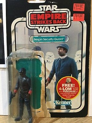 Vintage Star Wars Bespin Security Guard With Weapon & Backing Card.