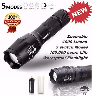 4000LM Tactical LED Flashlight G700  X800 Zoom Super Bright Military Torch Light