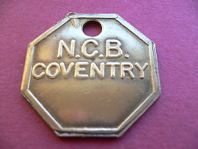 Coventry Colliery Brass Pay Time Check Mining Miners Pit Lamp Token 00
