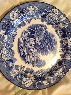 Enoch Woods English Scenery Blue & White Plate In Excellent Condition