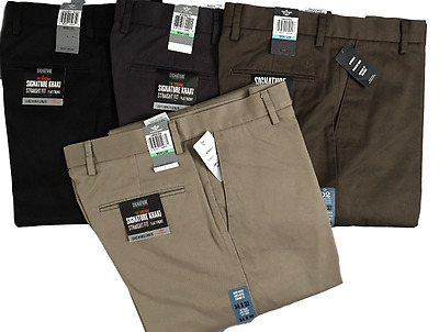 Dockers Levis D2 Signature Khaki Straight Fit Flat Front Mens Trousers Genuine