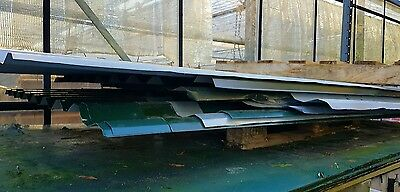 Metal Steel Roof Cladding Sheets box profile Corrugated Galvanised Juniper green