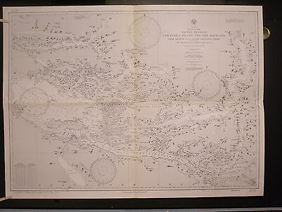 WWII Era Chart 1453 CANADA Waters Between Vancouver Island & Mainland Thurlow