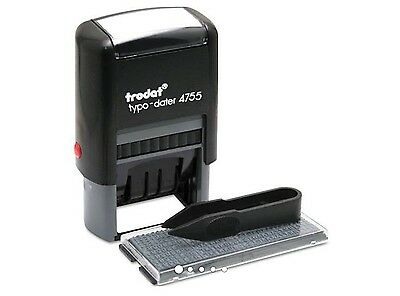 Trodat 4755 Do-It-Yourself Date And Text Stamp Self-Inking, Blue/Red Inking