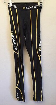 Skins Recovery Tights Small Compression Black/Yellow