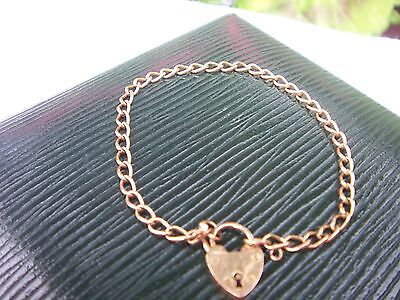 Victorian 9 Carat Gold Curb Link Bracelet With Padlock Clasp ( 2 Available)