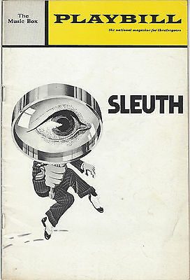 1970 Playbill SLEUTH Anthony Quayle Keith Baxter