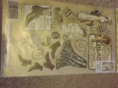 Edwardian / Victorian Rub On Crafting Transfers. Collage, Scrapbook & Cardmaking
