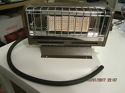 Lovely Petite D.i.p. Radiant Gas Heater Butane Or Propane Camping Shed Garage...