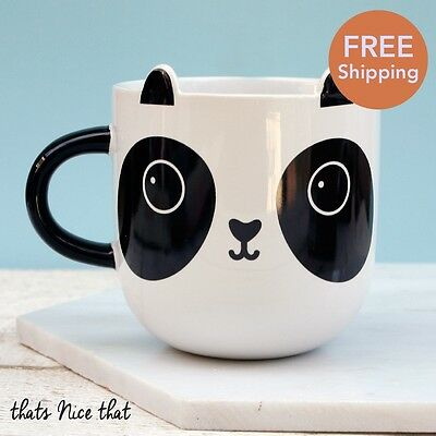 Cute Panda Mug Gift Home Animal Novelty Drink Tea Coffee Ceramic Black & White